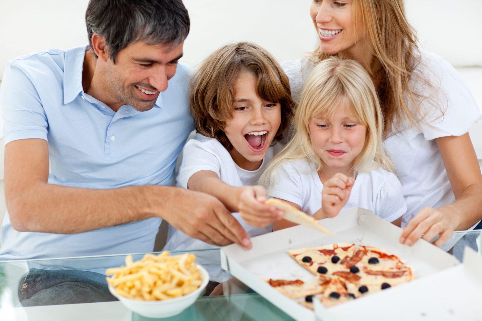 Children Eating Junk Food