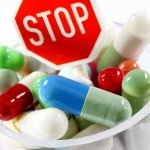 stop sign with pills