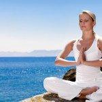 woman mediation pose