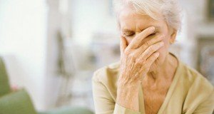 confused elderly woman