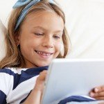 girl using mobile device