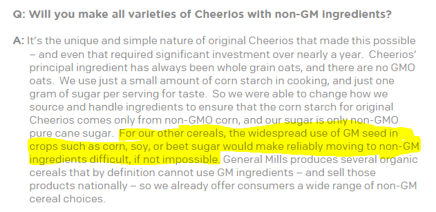 cheerios question 1