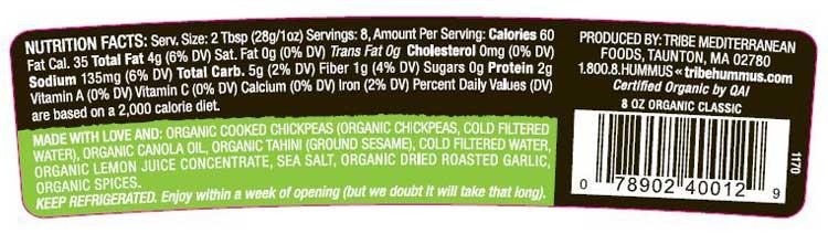organic-hummus-label