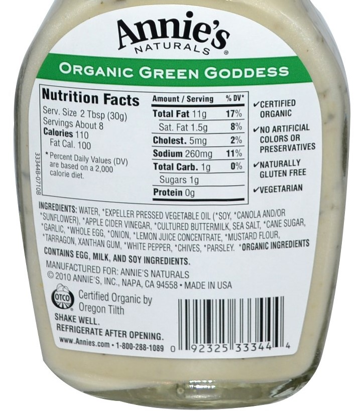 organic-salad-dressing-label