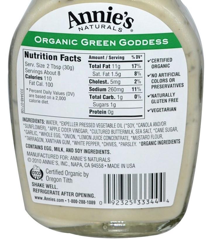 Organic Food Bad Nutrition